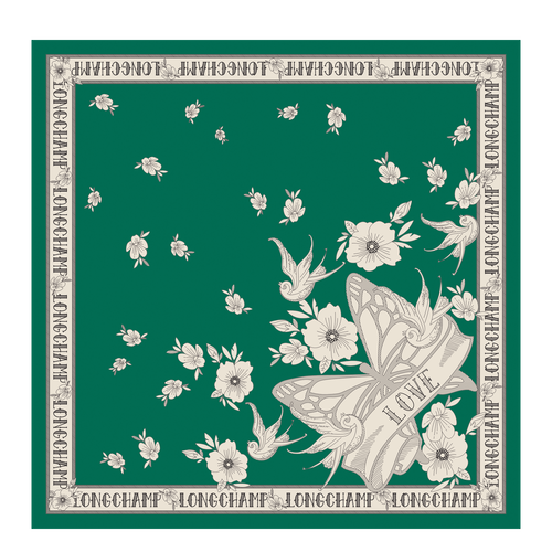 View 1 of 方形絲巾, 仙人掌色, hi-res