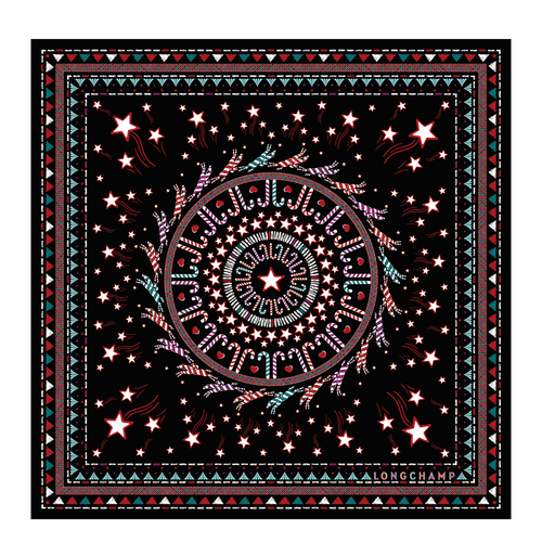 Silk scarf, Black, hi-res - View 1 of 1