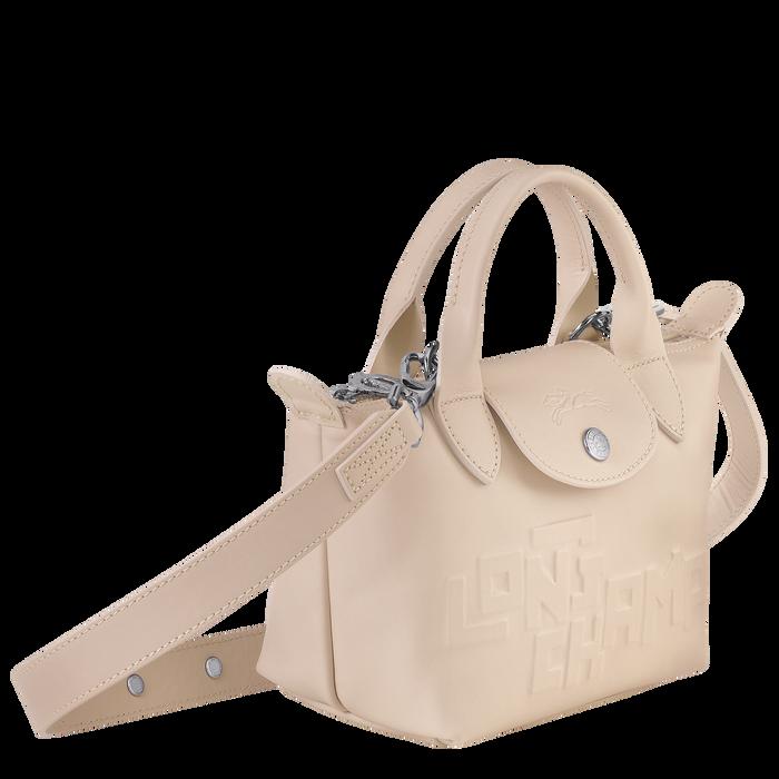 Mini top-handle bag, Chalk, hi-res - View 2 of 3
