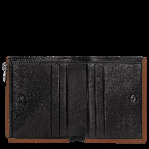 Portefeuille compact, Cognac - Vue 2 de 2.0 -