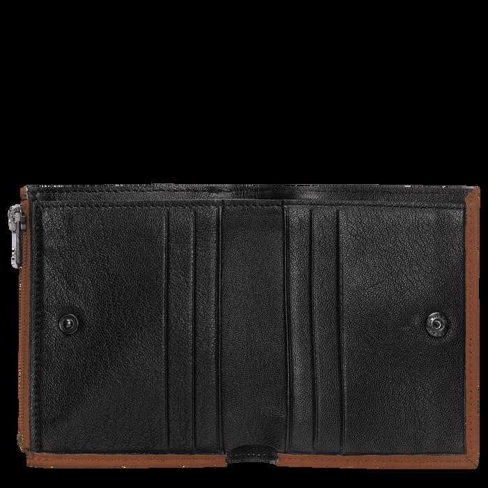 Portefeuille compact, Cognac - Vue 2 de 2.0 - agrandir le zoom