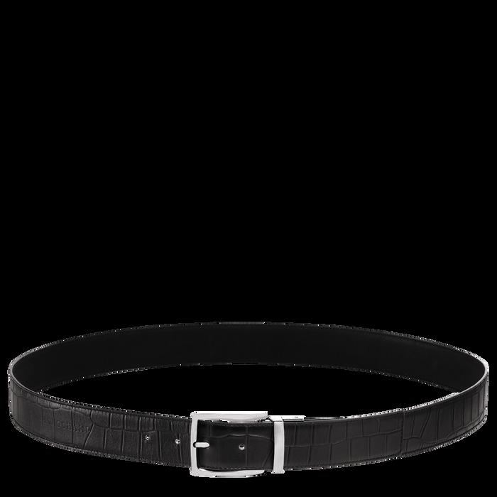 Men's belt, Black/Ebony - View 1 of  1 - zoom in