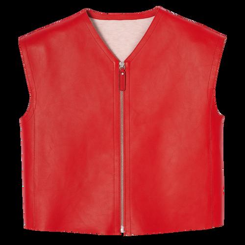 쇼트 재킷, 다홍색, hi-res - 1 보기 1