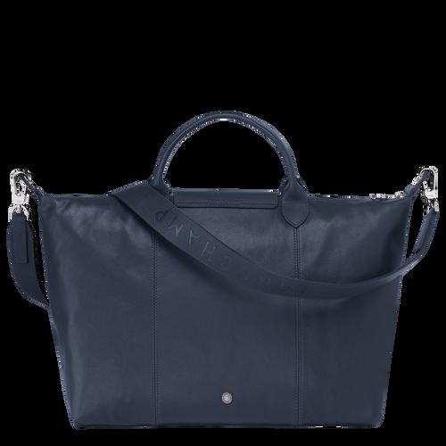 Top handle bag L, Navy - View 3 of  5 -