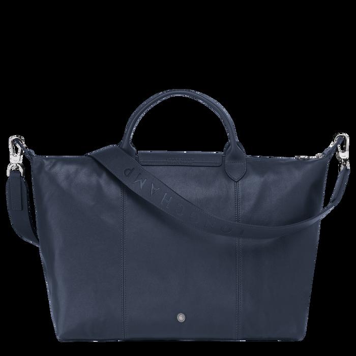 Top handle bag L, Navy - View 3 of  5 - zoom in