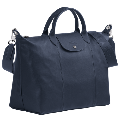 Top handle bag L, Navy - View 2 of  5 -