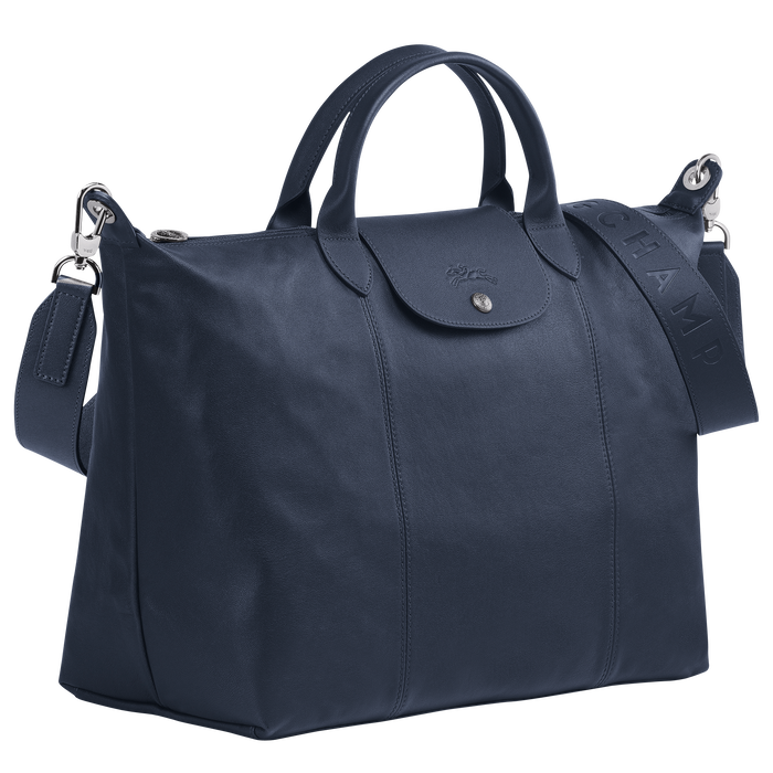 Top handle bag L, Navy - View 2 of  5 - zoom in