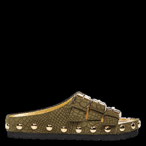 View 1 of Flat Sandals, 292 Khaki, hi-res