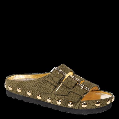 View 2 of Flat Sandals, 292 Khaki, hi-res
